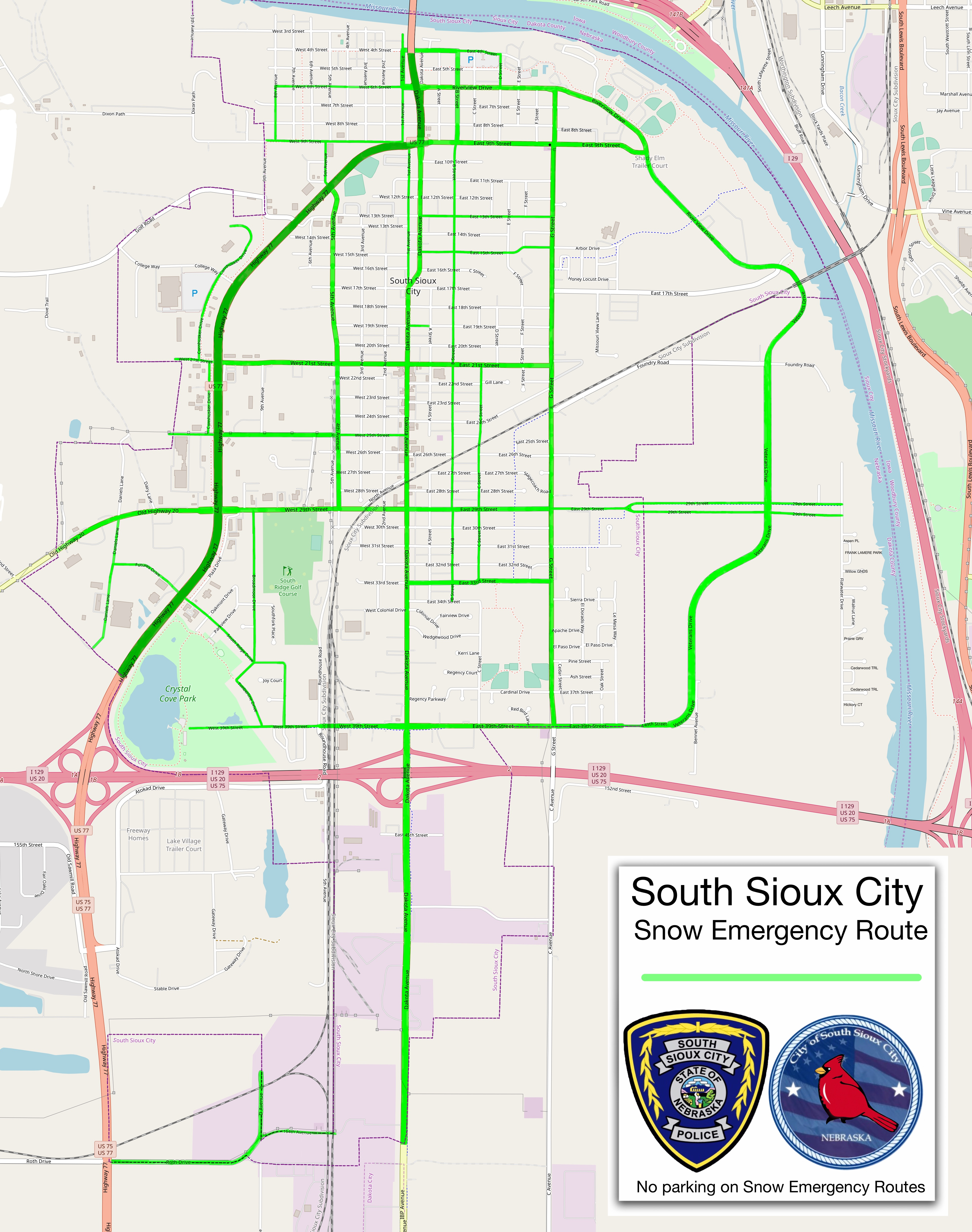 Snow Emergency Map